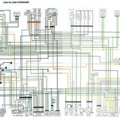 2002 Yamaha Virago 250 Wiring Diagram Narva Driving Light Switch 1984 Gl1200 Standard Colour Schematic