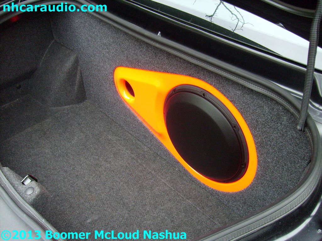 hight resolution of jl audio custom dodge charger subwoofer enclosure paint