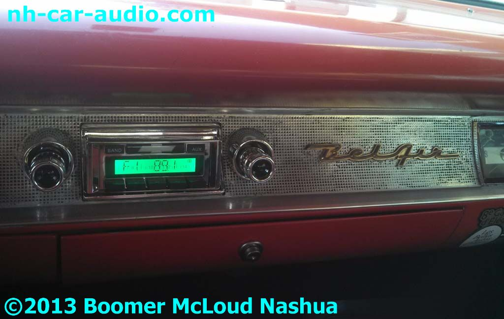chevy radio 57 2005 ford e350 wiring diagram custom installation services boomer mcloud nashua 1957 belair digital auxilary input
