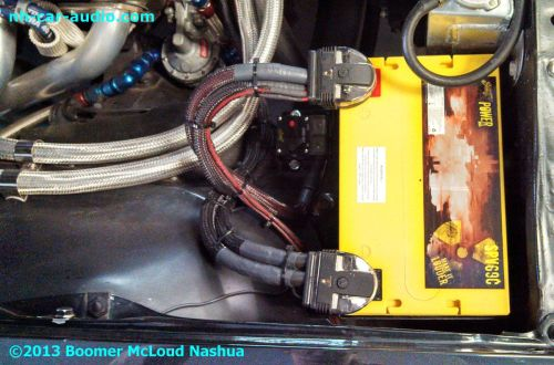 small resolution of gmc sierra custom boomer mcloud nh car audio wiring subwoofer battery
