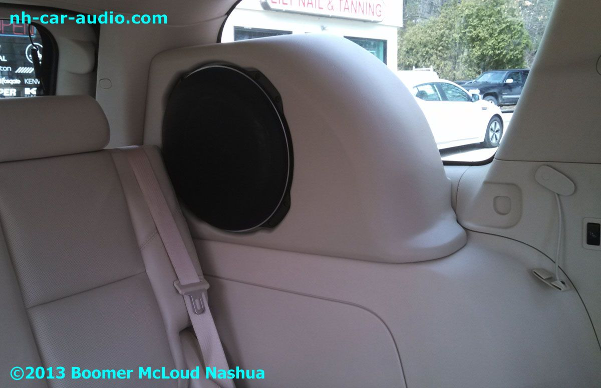 hight resolution of cadillac escalade factory matched subwoofer enclosure