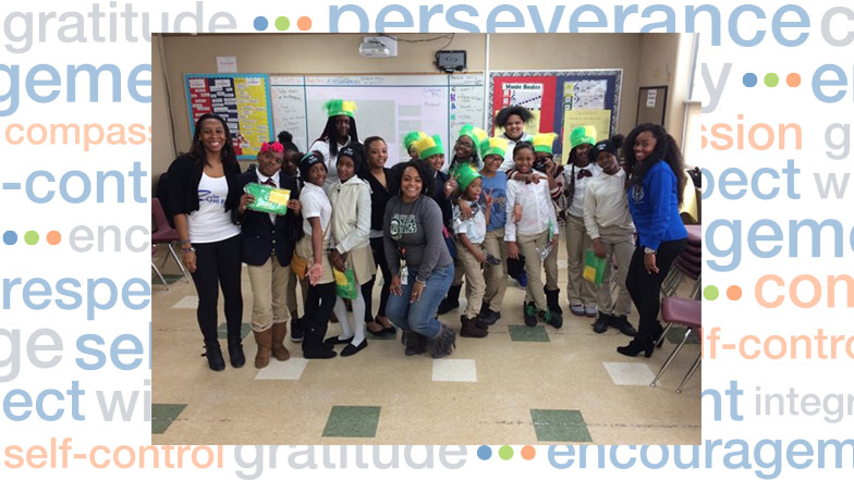 Students stand with greek sorority members also home detroit mi flagship charter academy rh nhaschools