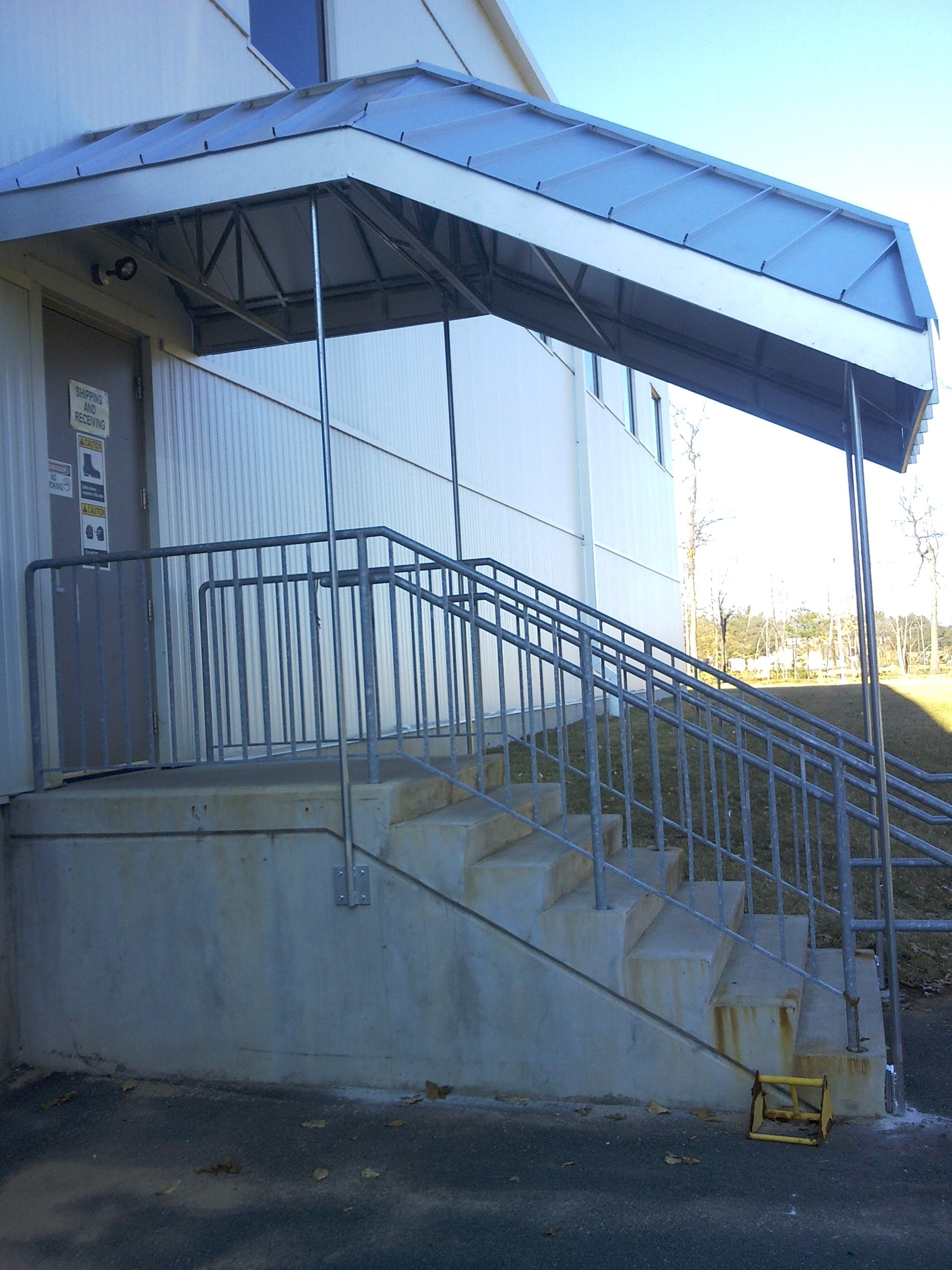 Metal Staircase Canopy in Milford CT  New Haven Awning