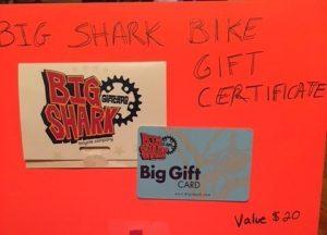 Big Shark Bike Gift Certificate