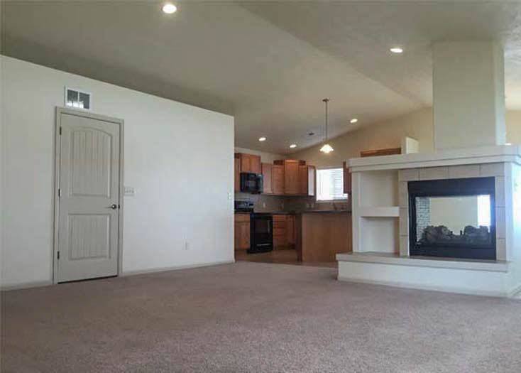 172 Winter Hawk living room fireplace