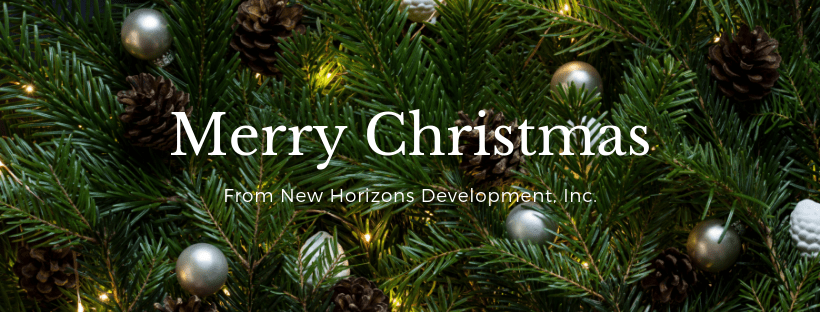Merry Christmas from New Horizons Development, Inc!