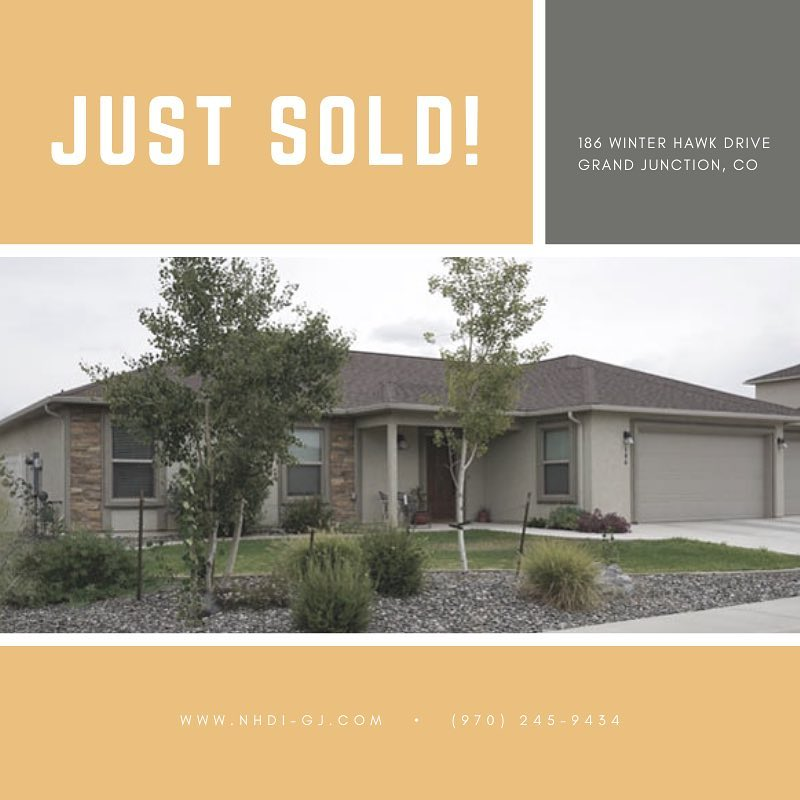 Just sold in Hawks Nest! Call us today to look at the homes we have available. . #grandjunctionrealestate #justsold #hawksnestsubdivision