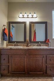 Master Bath vanity in 170 Night Hawk Drive