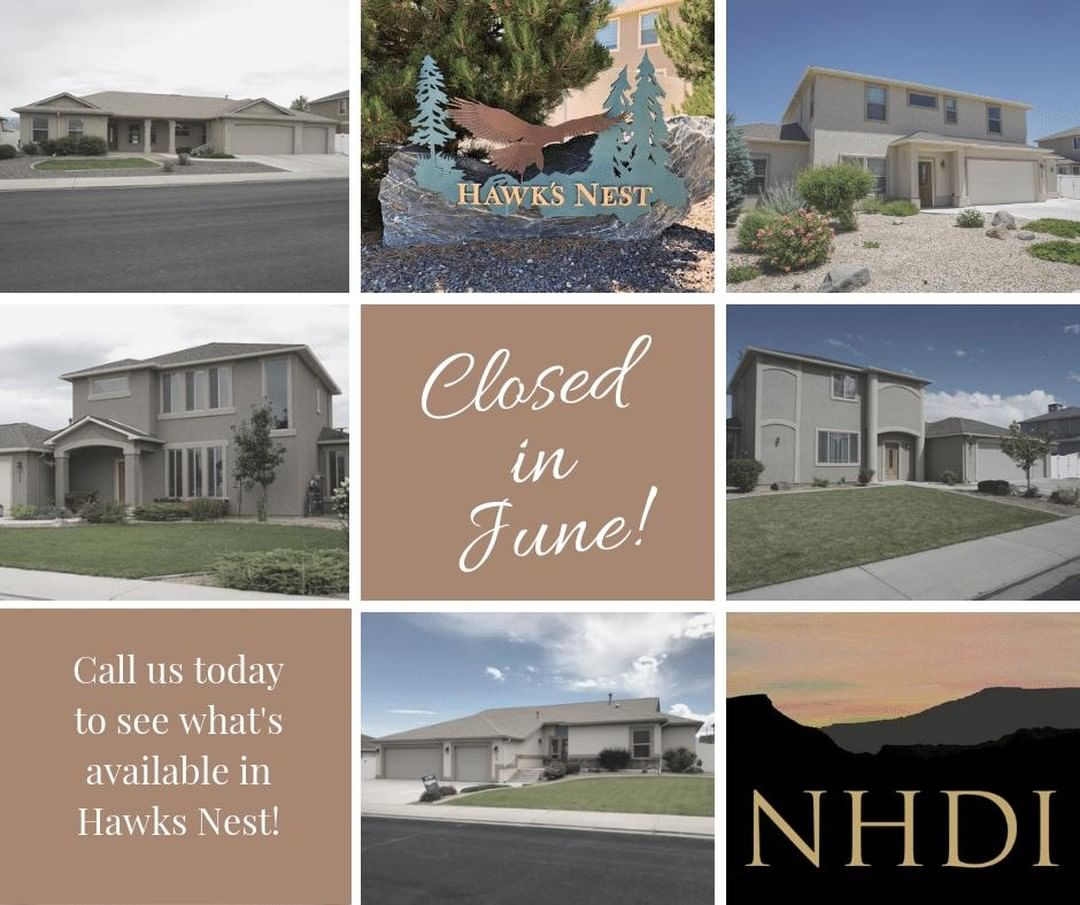 Look at all of the homes that have closed in Hawks Nest this month! ⁣ ⁣ We have 3 homes currently available, and a few more coming this Summer. If you are interested in living in this great neighborhood, give us a call! ⁣ ⁣ Janet – 250.0765⁣ Jennifer – 985.9432⁣ *⁣ New Horizons Development, Inc.⁣ 970.245.9434 | Info@NHDIGJ.com ⁣ Grand Junction, CO⁣ *