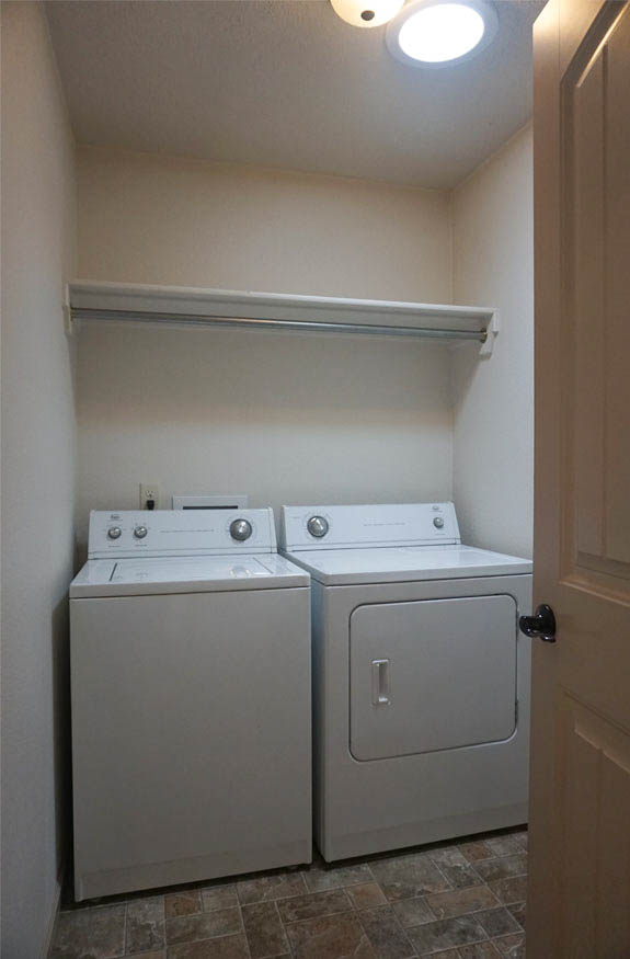 laundry room in 177 winter hawk includes the washer & dryer
