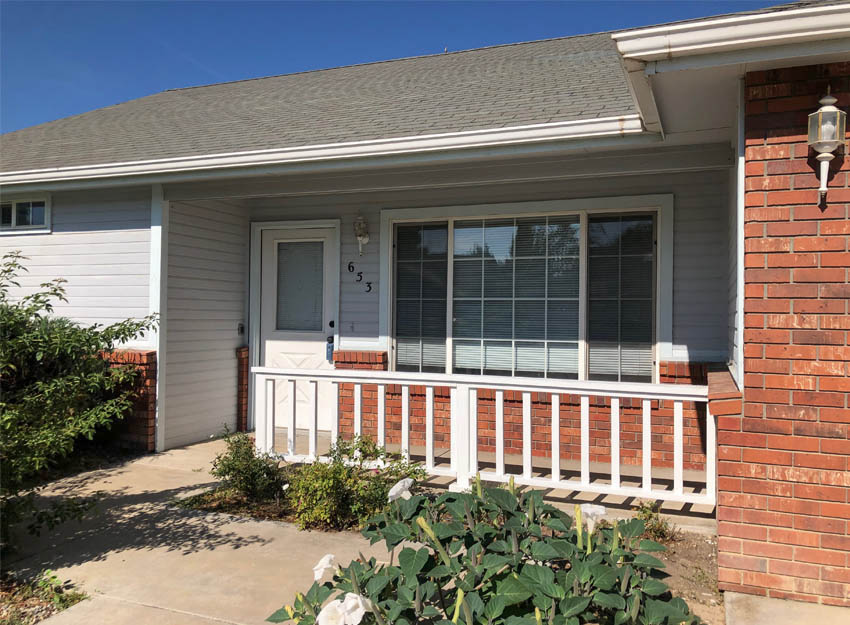Covered front porch at 653 Fenton Street, Grand Junction, CO