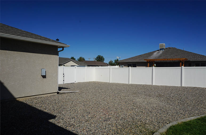 the RV parking area behind the fence at 2995 Golden Hawk Way
