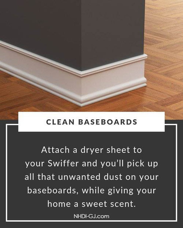 Clean your baseboards of unwanted dust with this great tip!