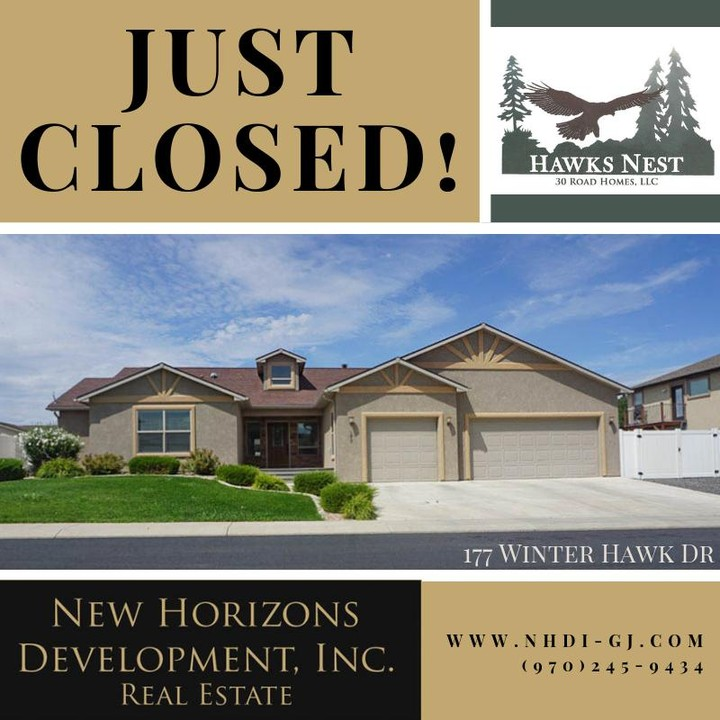 177 Winter Hawk has closed! ⁣ ⁣ We have a few more homes coming in Hawks Nest Subdivision, but not many. Join our mailing list to hear about new listings first!