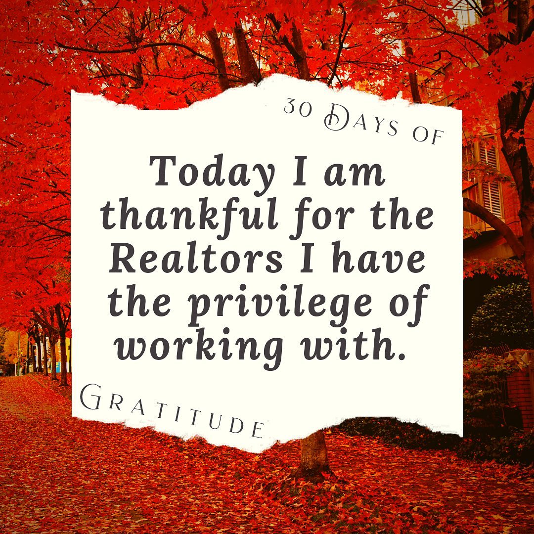 I am very thankful for the mentorship & friendship of my colleagues. We have so many great Realtors here that truly care about our community.