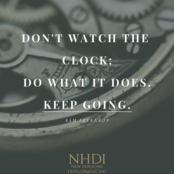 We felt this was fitting today, with the recent thoughts of time changing.⁣ ⁣ It's good advice though. Keep pushing forward. Keep taking steps towards your goals.
