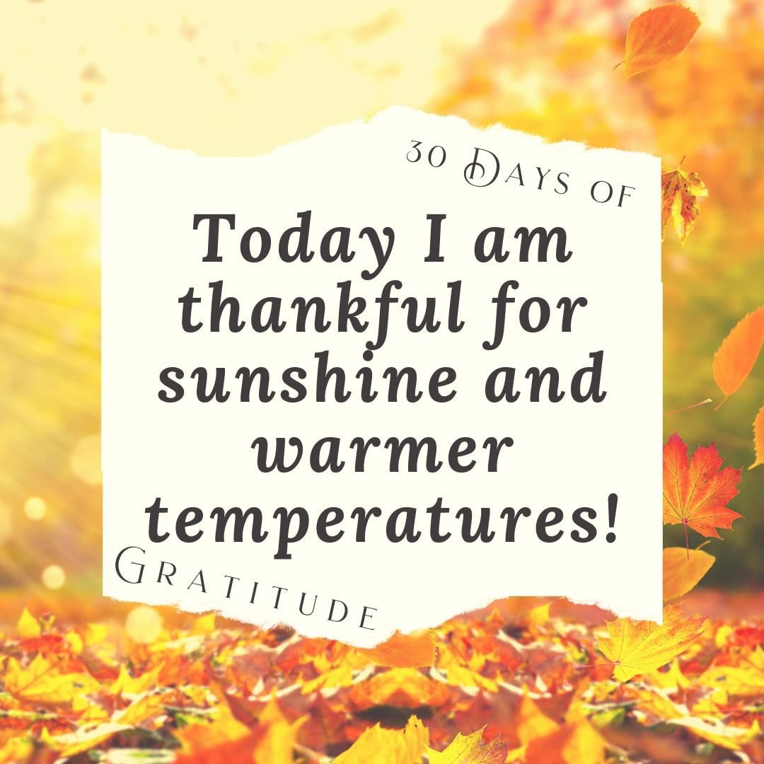 While I enjoy Winter, I'm thankful that we are enjoying warmer temps again for a bit longer. Autumn is my favorite time of year, so I'm thrilled to get to enjoy it for another week or two.