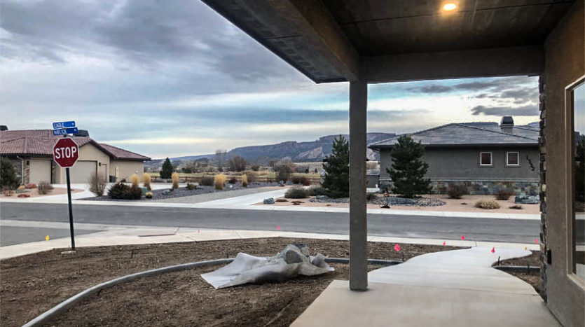 View from the covered front porch of 1329 Niblick Way, Fruita.