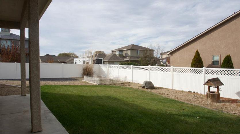 Back yard of 2996 Osprey Way.