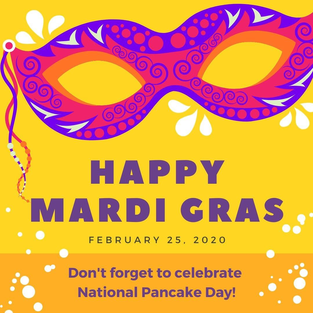 "It's Fat Tuesday! aka National Pancake Day, aka, Mardi Gras, aka Shrove Tuesday.⁣ ⁣ IHOP is offering free pancakes this morning if you don't feel up to making them at home 😉⁣ ⁣ While there will be parades in New Orleans, the origins of Mardi Gras are centered around the Catholic calendar. Mardi Gras is French for ""Fat Tuesday,"" also called Shrove Tuesday. It is the day before Ash Wednesday, which marks the start of Christian Lent season leading up to Easter. During Lent, many Christians fast, and the name Fat Tuesday refers to the last day of eating richer foods before the leaner days of Lent begin.⁣ ⁣ So go eat those pancakes!"