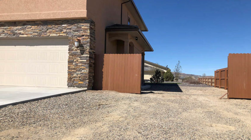 Garage & RV parking area of 1485 Adobe Falls Way