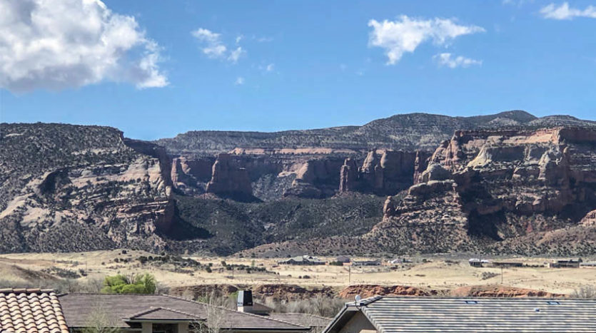 View of Independence Rock from the south weat bedroom of 1485 Adobe Falls Way.