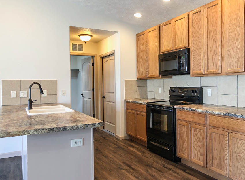 The galley styled kitchen of 183 Winter Hawk Drive.