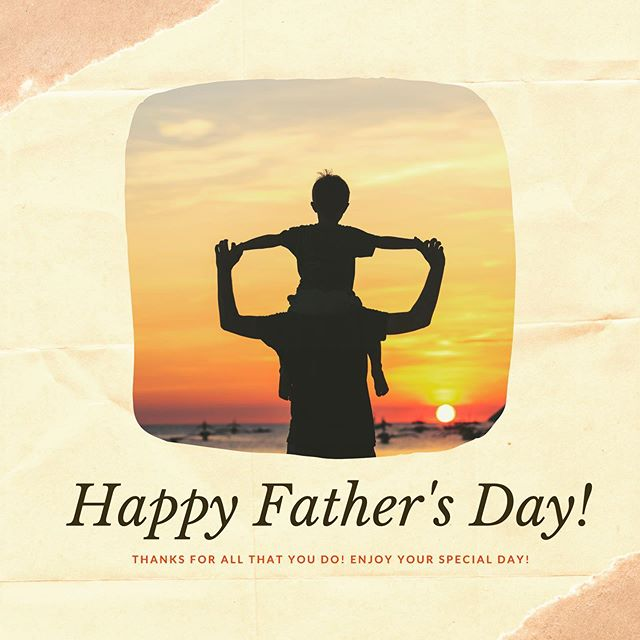 Happy Fathers Day to all the great dads out there!