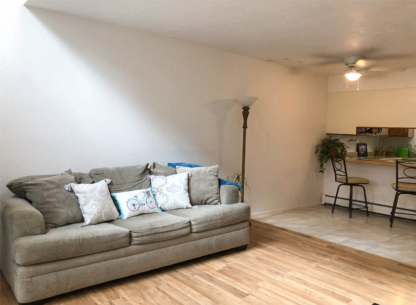 103 Bacon Ct #3 has an open concept living, dining, and kitchen area.