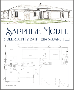 Sapphire Model - 3 bedroom, 2 bath executive home in Emerald Ridge Estates