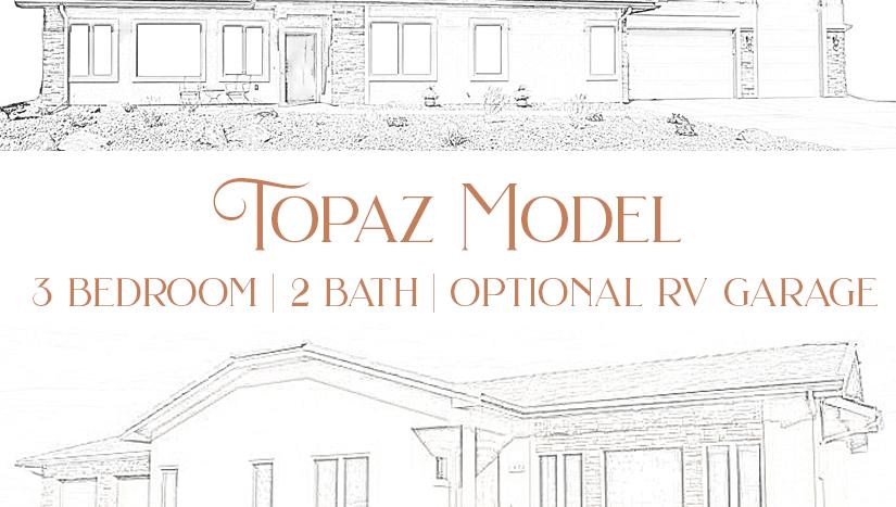Topaz Model, a 3 bedroom, 2 bath home with optional RV garage in Emerald Ridge Estates.