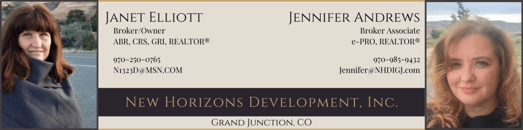 New Horizons Development, Inc. is a real estate company located in Grand Junction, CO.