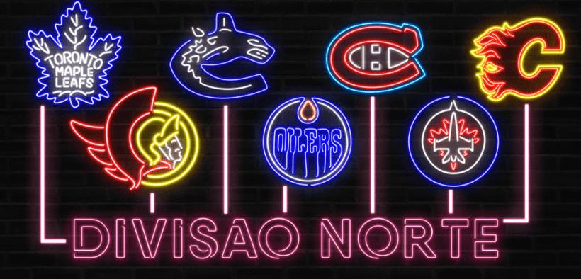 Equipes que compõem a Divisão Norte da NHL em 2021