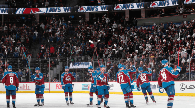 Colorado Avalanche after victory in game 2 of the second round