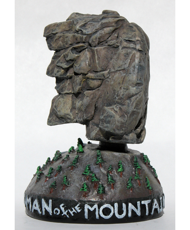 New hampshire awoke saturday to find its stern granite symbol of independence and stubbornness, the old man of the mountain, had collapsed. New Hampshire Historical Society Old Man Of The Mountain Bobblehead