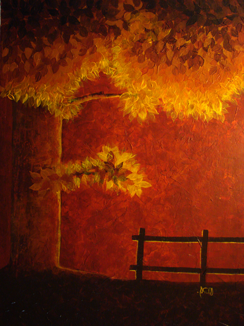 Autumn - Painting by Nhick Ramiro Pacis