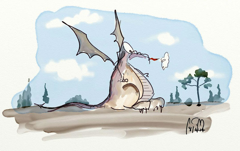 Dragon Caricature with ArtRage 4