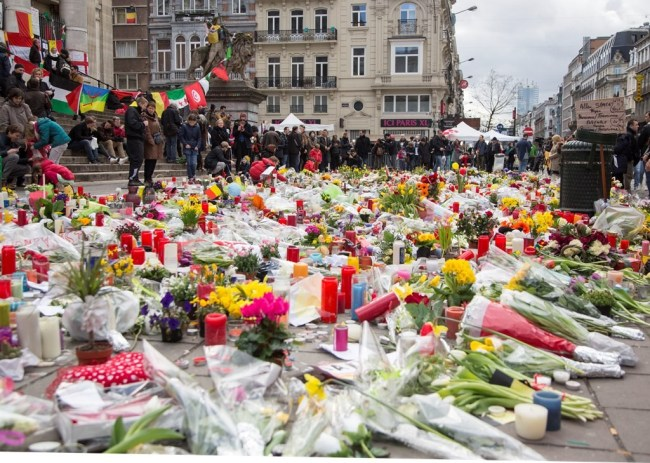 Bruxelles apres les attentas. Photo: PhPo