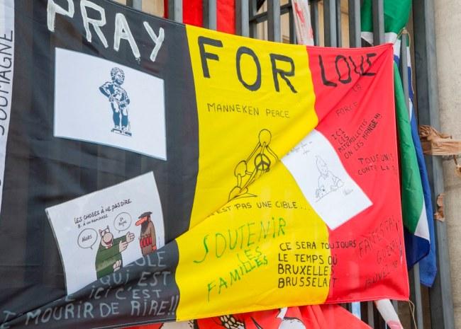 Bruxelles apres les attentas. Photo: PhPo