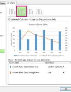 under choose the chart type and axis for your data series check secondary box each you want to put on also how combine two charts in excel ireland rh nhireland