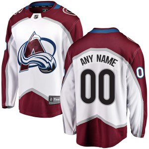 Men's Colorado Avalanche Fanatics Branded White Away Breakaway Custom Jersey