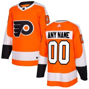 Men's Philadelphia Flyers adidas Orange Authentic Custom Jersey