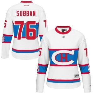 Women's Montreal Canadiens PK Subban Reebok White 2016 Winter Classic Premier Jersey