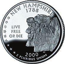 220px State quarter for New Hampshire