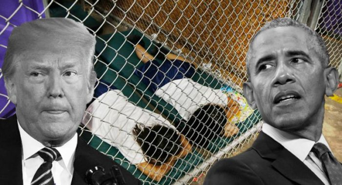 trump obama caged kids