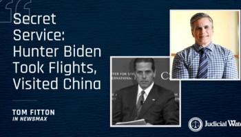 Secret Service: Hunter Biden Took Flights, Visited China