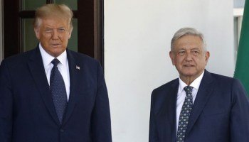 Trump meets Mexican president at White House, despite Democratic objections