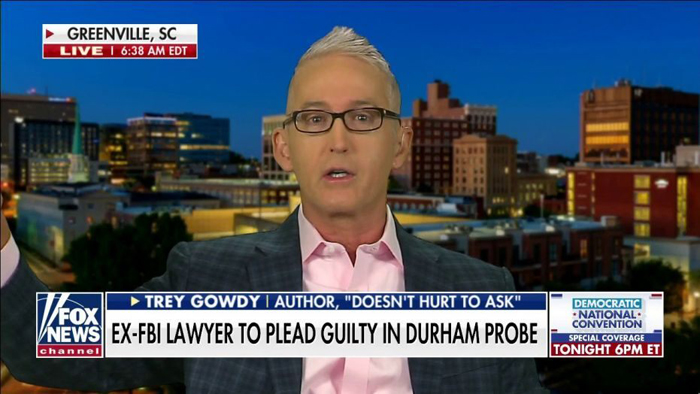 Trey Gowdy rips mainstream media for ignoring ex-FBI lawyer's expected guilty plea