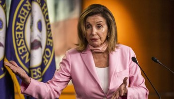 """House Speaker Nancy Pelosi slammed President Trump for suggesting that he would deliver his convention acceptance speech from the White House South Lawn, calling the proposed move """"very wrong."""" """"For the President of the United States to degrade once again the White House, as he has done over and over again, by saying he's going to completely politicize it, is something that should be rejected right out of hand,"""" Pelosi, D-Calif., said during an interview on MSNBC. """"It's not serious thinking,"""" she said. """"It won't happen, whether it's legally wrong or ethically out of the question, it shouldn't have been something that was expressed."""" TRUMP CAMPAIGN CONSIDERING POSSIBLE CONVENTION ACCEPTANCE SPEECH FROM WHITE HOUSE LAWN Earlier in the day, during an interview on """"Fox & Friends,"""" Trump confirmed that his re-election campaign was exploring several options for the site of his Republican National Convention nomination acceptance speech later this month, including the South Lawn. """"We're thinking about it,"""" Trump said. """"It would be the easiest from the standpoint of security. You know these, they move with a lot of people, it's a very expensive operation militarily. And law enforcement-wise. The Secret Service is fantastic. But it's a big deal."""" The possibility that Trump may deliver one of his most high-profile speeches at the White House has raised questions over whether it's a violation of the Hatch Act, which prohibits federal government employees from participating in partisan political activity -- although the president and vice president are exempt. TRUMP, IN 'FOX & FRIENDS' INTERVIEW, WARNS IT COULD TAKE YEARS TO GET ELECTION RESULTS WITH MASS-MAILED BALLOTS placeholder """"I think anything you do on federal property would seem to be problematic,"""" Sen. John Thune, R, S-D., told reporters this week. At the end of July, Trump abruptly canceled RNC events that were scheduled to take place in Jacksonville, Fla. amid a resurgence of coronavirus cases in the state. His decis"""