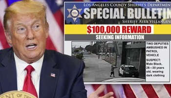 Trump calls for swift justice in shooting of ambushed deputies as manhunt intensifies in LA